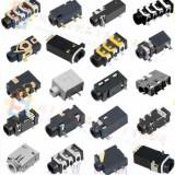 贴片超小耳机母座/沉板斜孔耳机插座/密封式防水耳机插座