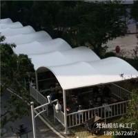 江苏梵灿膜结构厂家提供自行车车棚设计图可定制学校自行车停车棚加工安装