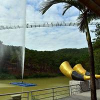 移动式喊泉解决了广场上没有水源的难题