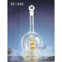 海南工艺玻璃酒瓶厂家供货 河间宏艺玻璃量大从优