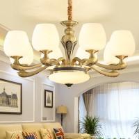欧式全铜灯 全铜仿云石灯 全铜玻璃吊灯
