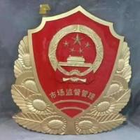 4米大型贴金警徽制作 专门承接各种大型悬挂徽章定做