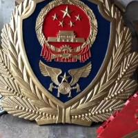 烤漆警徽批发商(20公分至5米)大型贴金警徽定制