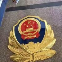 吉林警徽制作厂家  门头悬挂不褪色警徽定制 大型3米警徽制作