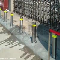 武汉升降桩安装图 湖北半自动升降柱 防撞路障地柱