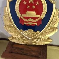 大批量岗亭警徽30公分低价批发,大型1米8警徽定制