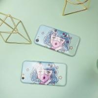 熠拓原创设计日式薄荷美少女软壳手机壳