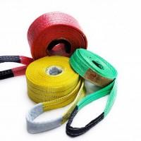 彩色吊装带扁平涤纶吊装带防割型吊装带