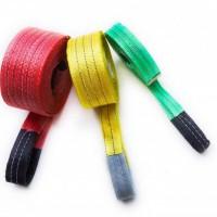 彩色吊装带-扁平吊装带加护套吊带-两头扣起重吊带
