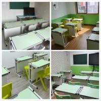 厂家直销托管班学生课桌 课桌凳订制批发