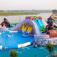 户外游乐园的支架水池游乐设施