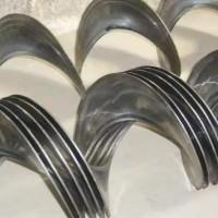不锈钢单片螺旋叶片 加厚锰钢耐磨螺旋叶片 定制无轴螺旋叶片