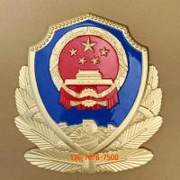 大楼警徽定做 警徽订购定做 铸铝立体金属徽标