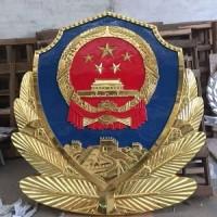 铸铝警徽生产厂家 常规规格现货供应 3米贴金警徽定制