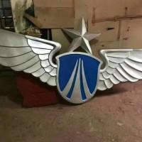 空军徽制作生产部队门头八一军徽制作厂家 大型挂徽定制