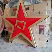 部队门头挂徽1.2米铸铝警徽生产厂家八一军徽定制