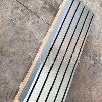 济南T型槽地轨 条形地轨镀锌防锈标准铸铁平台 带详细结构图
