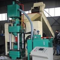 Y鑫源厂家为大家介绍全自动钢屑压块机的使用原理及现场视频