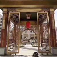 广州铝艺豪华别墅大门订制,对开门铝合金系列厂家直销可上门安装