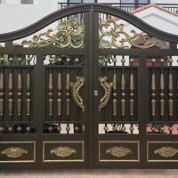 广州市铝艺豪华别墅大门订制,对开门铝合金系列厂家直销上门安装