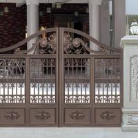 深圳铝艺豪华别墅大门订制,对开门铝合金系列厂家直销可上门安装