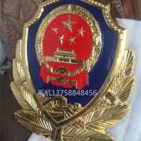 甘肃省制作武警徽厂家 新款铝铸警徽定做 门头武警国徽定制