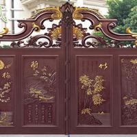 别墅铝艺大门-现代中式合院大门