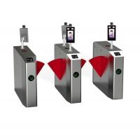 地铁闸机超市智能桥式翼闸小区人脸识别斜角翼闸安全系统