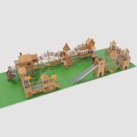 浩翔户外大型实木制拓展组合游乐设备
