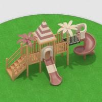 幼儿园户外大型实木制塑料滑滑梯游乐设备玩具