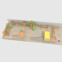 浩翔户外实木制黄花梨滑梯组合玩具游乐设备