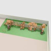 幼儿园户外大型实木滑梯组合拓展游乐设备