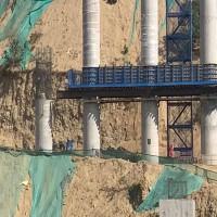 供应施工平台 建筑施工平台 梯笼式爬梯 设计组装