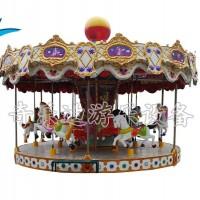 经典游乐设备旋转木马厂家,新型转马类游乐设备价格