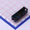 双排立式直插母座简牛针座2.54间距2×09P-星坤电子
