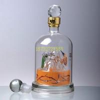 昆仑山造型玻璃白酒瓶天山形状工艺白酒瓶子威士忌玻璃白酒瓶