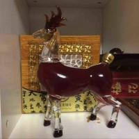 鹿茸血酒养生酒瓶创意玻璃小鹿造型工艺酒瓶动物小鹿玻璃酒瓶