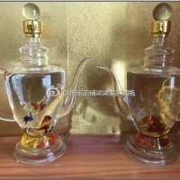 玻璃酒壶造型吹制工艺玻璃瓶子吹制异形威士忌白酒瓶洋酒瓶子